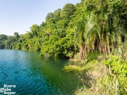 Descent to the shore of Ugandan crater lake to admire pristine views