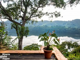 View from Ndali Lodge to Nyinambuga Crater Lake, Uganda