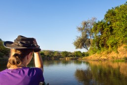 Canoe safari in Lower Zambezi National Park, Zambia