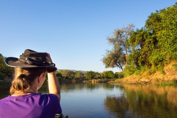 Canoe safari in Lower Zambezi National Park, Zambia