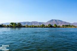 A view towards Mana Mana Pools in Zimbabwe