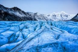 Svinafellsjökull glacier tongue in Iceland.