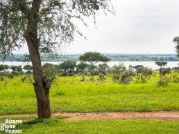 The view from our cottage in the new Pakuba Safari Lodge, Murchison Falls