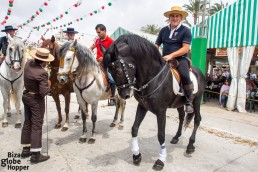 Beautiful Andalucian horses at Feria de Sevillanas, Torrevieja