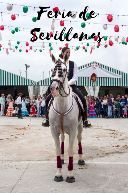 Celebrate Feria de Sevillanas with beautiful Andalucian horses, flamenco dresses, and vibrant Sevillan dance!