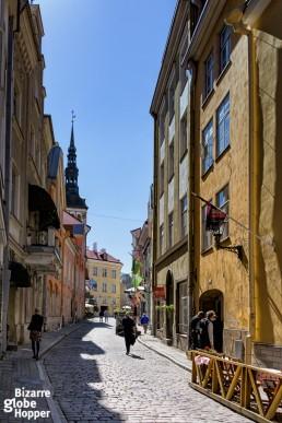 Streets of Tallinn Old Town, Estonia.