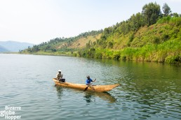 Dugout canoes on Lake Kivu
