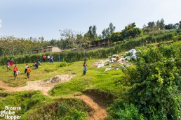 Stopping by the villages on the Rwandan and Congolese side of Lake Kivu