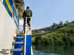 Arriving at one of the tiny villages on Lake Kivu
