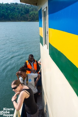 Sailing with a public boat from Kibuye to Kamembe, Rwanda