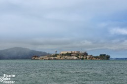 View to Alcatraz from the Golden Gate bike trip