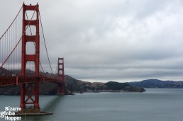 View towards Sausalito from the Golden Gate Bridge