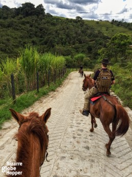 Piritta and Niina Riding in San Agustin, Colombia.