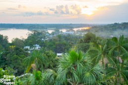 The view to the Amazon from Puerto Narino's Mirador just before sunset