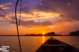 Sunset boat trip to the Amazon from Puerto Narino