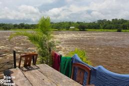 View from El Castillo to Rio San Juan River