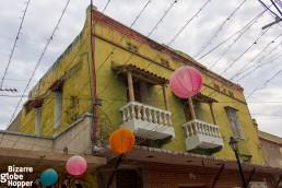 Decayed colonial facade in Santa Marta