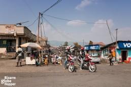 A traffic scene in Goma, DRC.