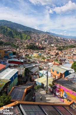 The escalators of Comuna 13 in Medellín, Colombia.