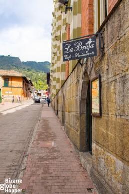 Haunted La Bruja Restaurant in La Candelaria, Bogotá