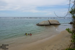 The calm beach called La Piscina inside Tayrona National Park