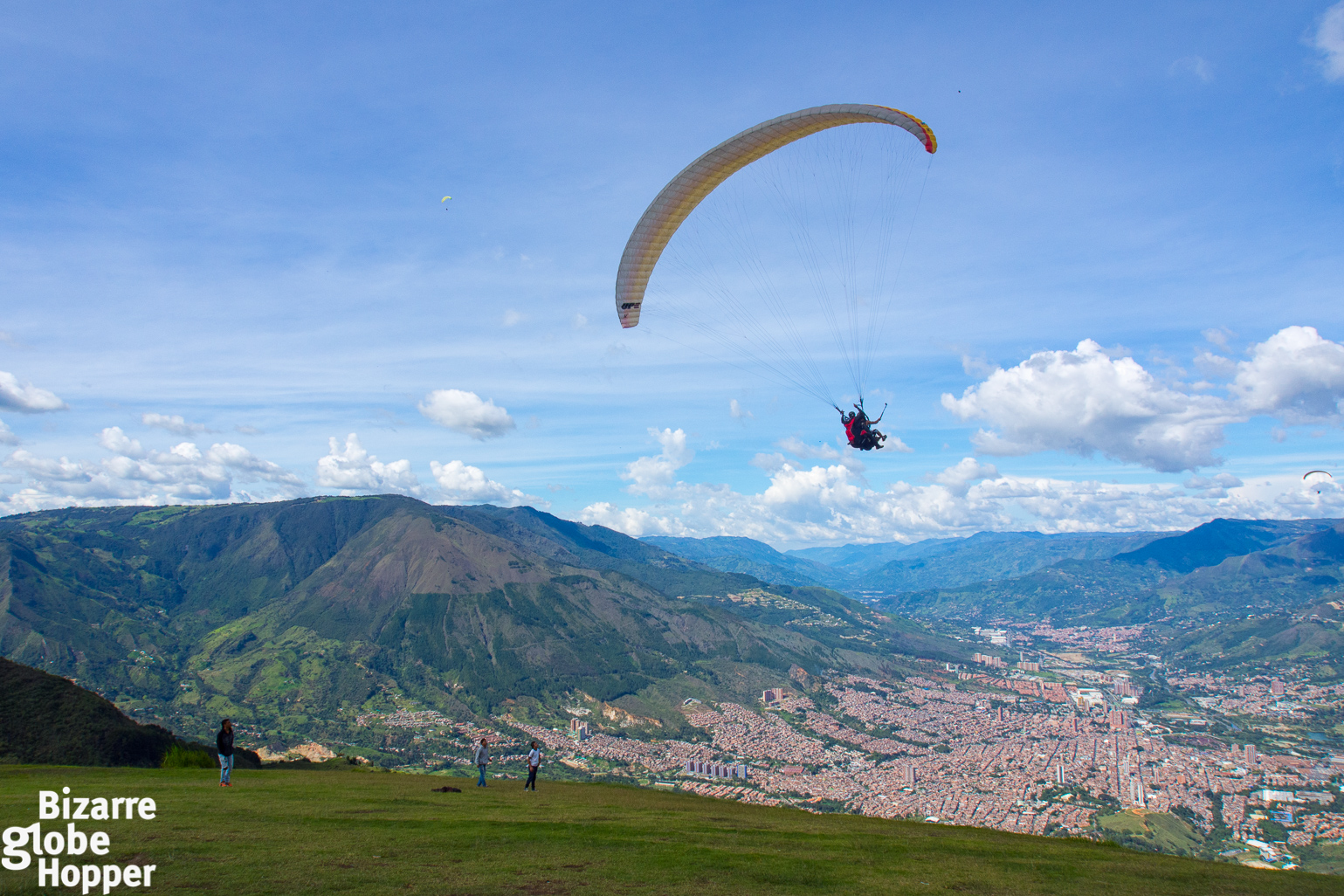 Paragliding Upon the Hills of Medellin, Colombia | Bizarre Globe