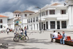 Parque Caldas, the main square of Popayán