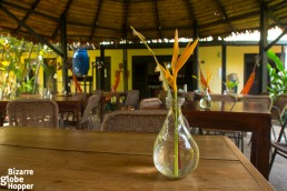 The cosy restaurant of Amazonas B&B, Leticia