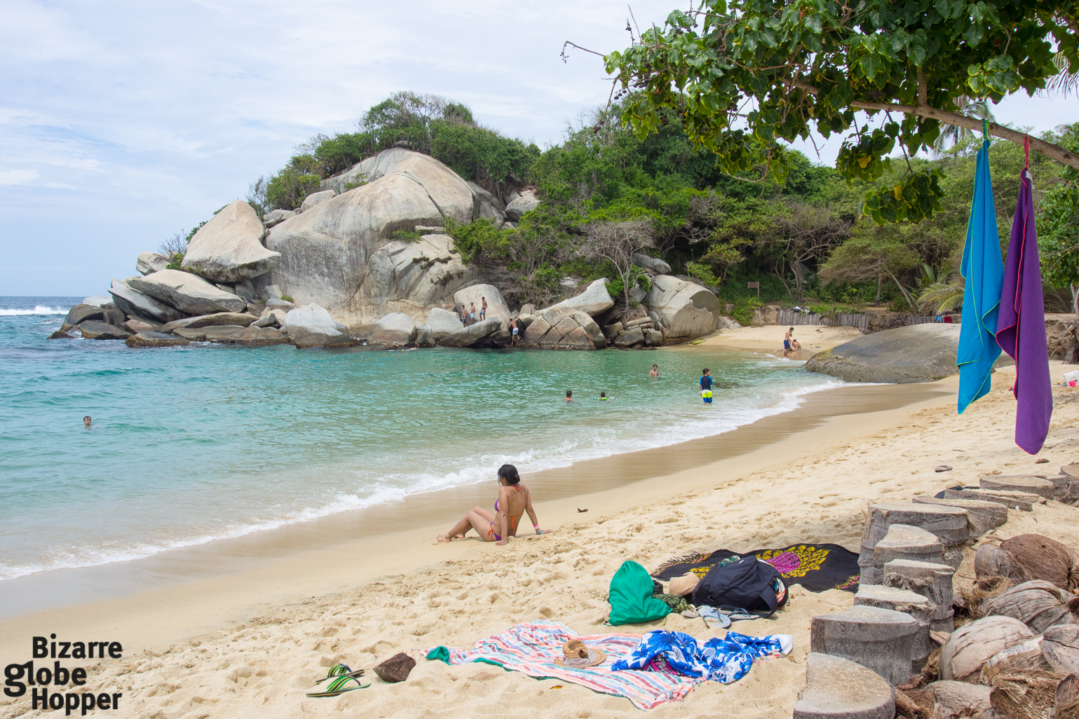 Mive Boulders Protect The Beach Of Cabo San Juan In Tayrona National Park