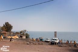 At the small harbor area of Goma, Democratic Republic of the Congo.