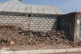 Everywhere around Goma there are still piles of the volcanic rock, left from the last eruption of Nyiragongo in 2002.