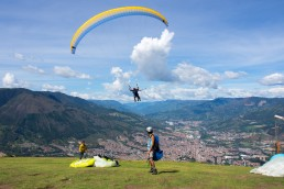 Paragliding in Medellín, Colombia