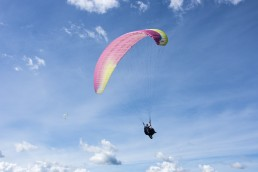 Paragliding in Medellin, Colombia. Fly like a bird and enjoy the cityscape of Medellin from above!