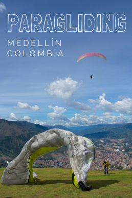 Go paragliding in Medellin, Colombia! Spin in the air like a bird and enjoy the sublime sceneries over Medellin.