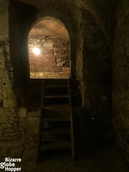 UNESCO protected Romanesque palace at the cellar of U Kunstatu, Prague