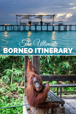 The best of Borneo squeezed into a 2-4 weeks itinerary. Orangutans, pygmy elephants, proboscis monkeys, rainforests and paradise beaches: pick your Bornean adventures! #Borneo #Malaysia #itinerary