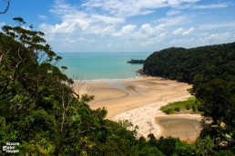 Stunning beach inside Bako National Park near Kuching, Malaysian Borneo