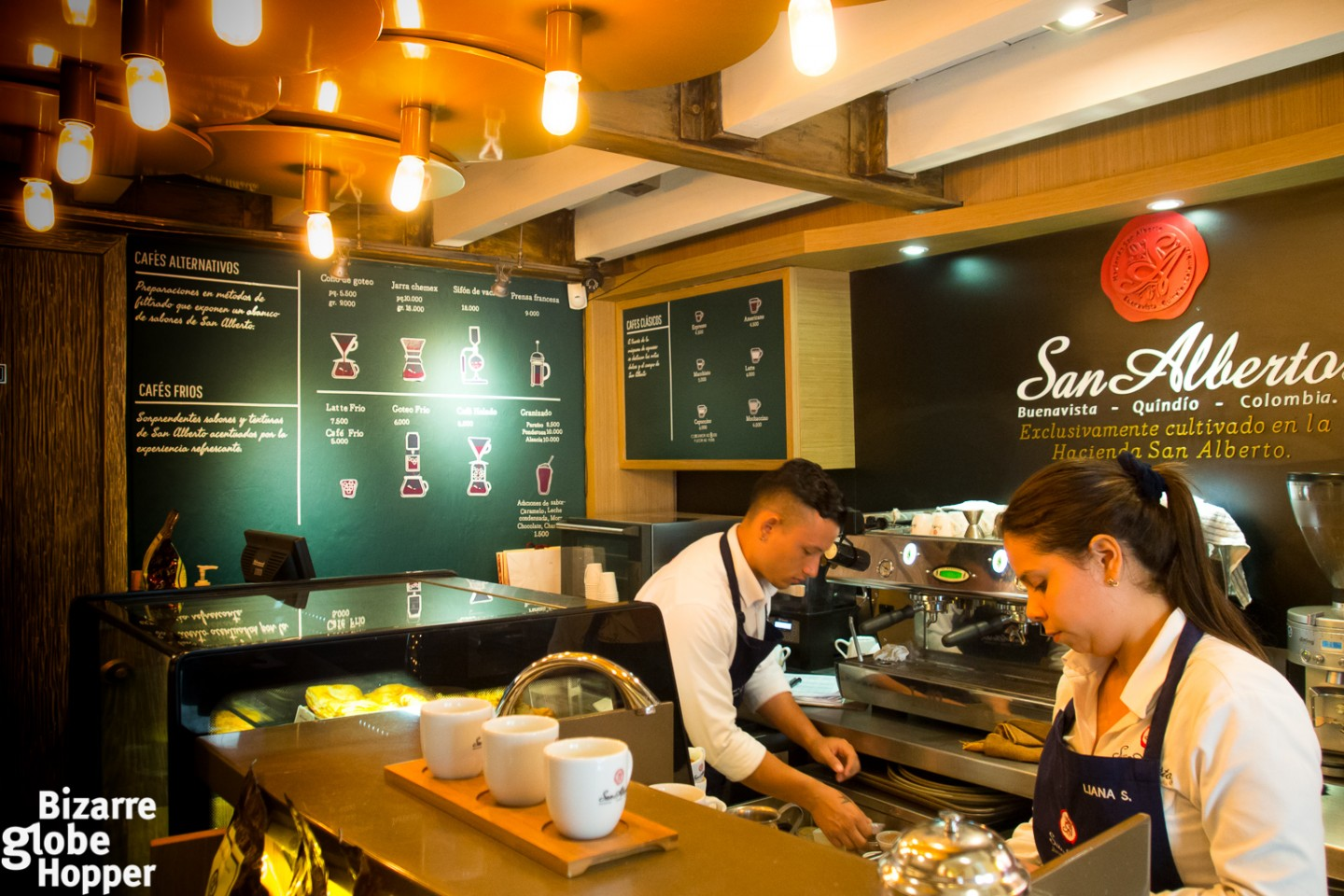 Café San Alberto inside the old town of Cartagena caters your specialty coffee needs with their super premium, wet-processed beans