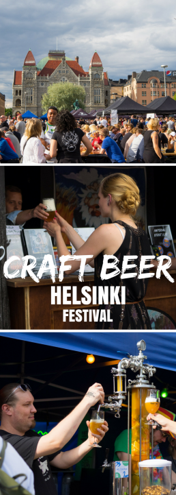 Small craft breweries take over Railway Square of Helsinki, Finland. Sample creative brews and binge on street food!
