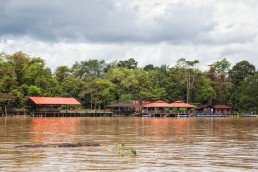 Abai Lodge at the Kinabatangan River in Malaysian Borneo
