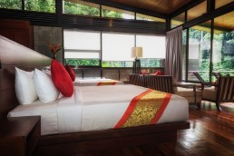 The deluxe chalet with a river view in Borneo Rainforest Lodge, inside the gorgeous Danum Valley