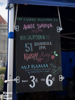 The beer list of Fat Lizard Brewing