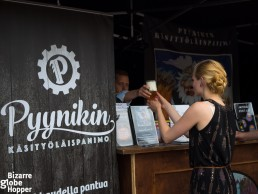 The stand of Finnish craft brewery Pyynikin Panimo at Craft Beer Helsinki festival
