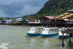The floating village of Sandakan