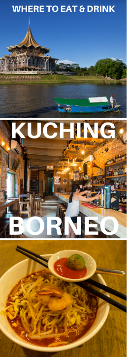 Pick your favorite restaurant among the street eats, upscale fusion restaurants and cafés of Kuching, Malaysian Borneo!