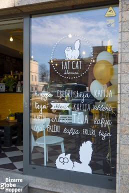 Riga's Fat Cat Café,is famous for its eclairs and cupcakes