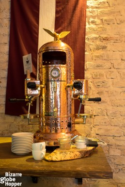 High-quality espresso machine: Victoria Arduino-Venus, Rocket Bean Roastery