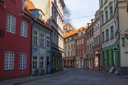 Jauniela is one of the prettiest cobblestone streets in the Riga Old Town