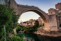 The legendary Mostar Bridge, Bosnia and Hertzegovina