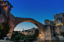 The iconic Mostar Old Bridge, Bosnia and Herzegovina.